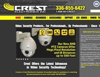 crestelectronics.com screenshot