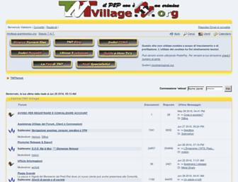 Main page screenshot of forum.tntvillage.scambioetico.org