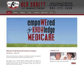 oldsurety.com screenshot