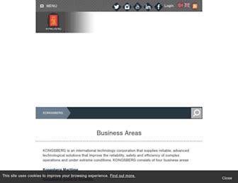 kongsberg.com screenshot