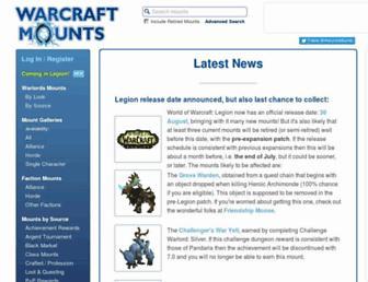Thumbshot of Warcraftmounts.com