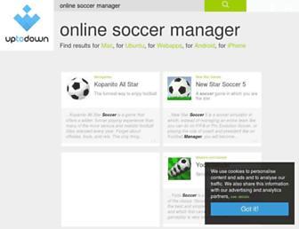 online-soccer-manager.en.uptodown.com screenshot