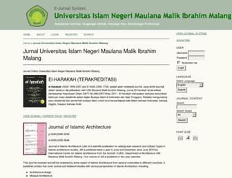 ejournal.uin-malang.ac.id screenshot