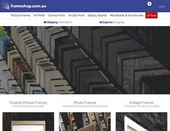 frameshop.com.au screenshot