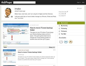 imake.hubpages.com screenshot