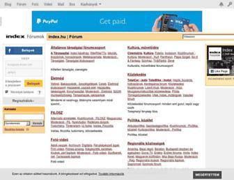 forum.index.hu screenshot