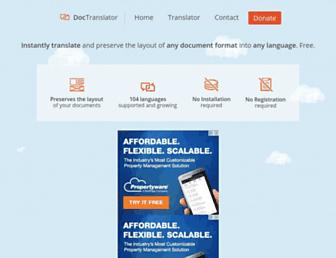 onlinedoctranslator.com screenshot