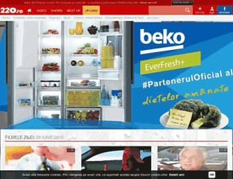 Main page screenshot of 220.ro