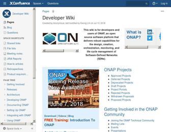 wiki.onap.org screenshot