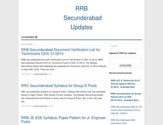 Thumbshot of Rrbsecunderabad.in