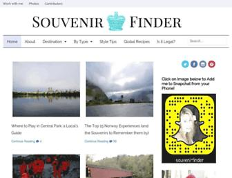 souvenirfinder.com screenshot