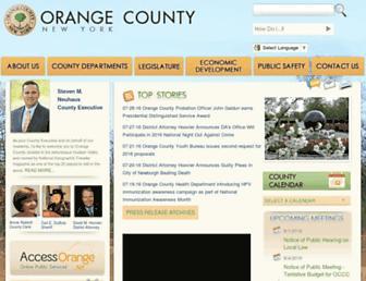 orangecountygov.com screenshot