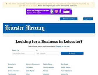 directory.leicestermercury.co.uk screenshot