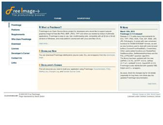 freeimage.sourceforge.net screenshot