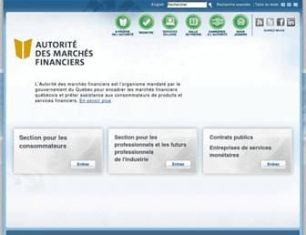 lautorite.qc.ca screenshot