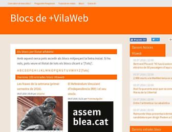 Main page screenshot of blocs.mesvilaweb.cat