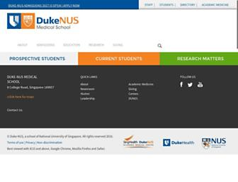 Thumbshot of Duke-nus.edu.sg