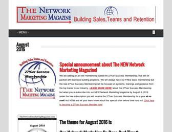 thenetworkmarketingmagazine.com screenshot