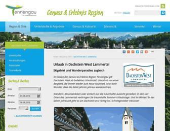 Main page screenshot of lammertal.info