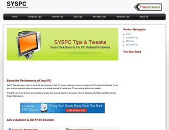 Fullscreen thumbnail of syspc.org