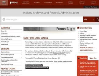forms.in.gov screenshot