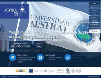 austral.edu.ar screenshot