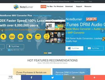 noteburner.com screenshot