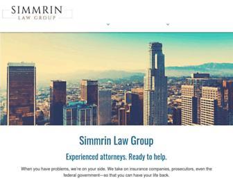 simmrinlawgroup.com screenshot