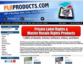 plrproducts.com screenshot