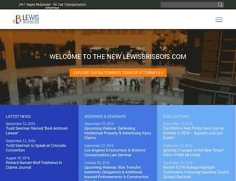lewisbrisbois.com screenshot