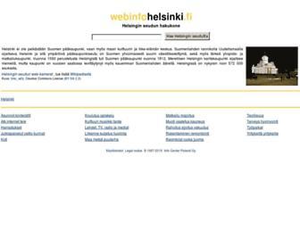 Main page screenshot of webinfohelsinki.fi