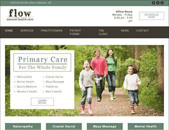 flownaturalhealthcare.com screenshot
