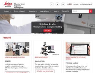 leicabiosystems.com screenshot