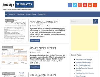 receipts-templates.com screenshot