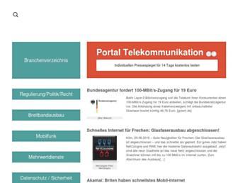 Main page screenshot of portel.de