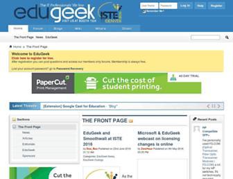 Main page screenshot of edugeek.net