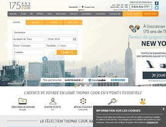 thomascook.fr screenshot