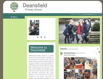 deansfield.greenwich.sch.uk screenshot