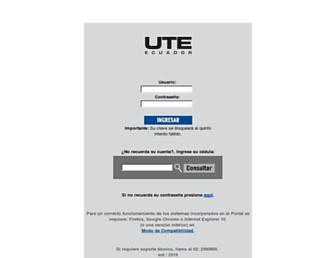 app.ute.edu.ec screenshot