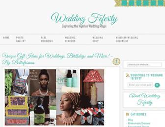 weddingfeferity.com screenshot