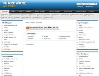 incredimail-to-mac-mail.sharewarejunction.com screenshot