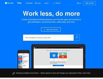 flow.microsoft.com screenshot