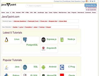 javatpoint.com screenshot