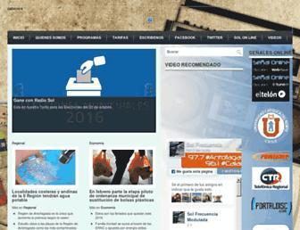 Main page screenshot of radiosol.cl