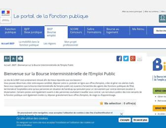 Main page screenshot of biep.gouv.fr