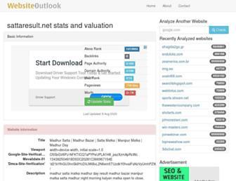 sattaresult.net.websiteoutlook.com screenshot