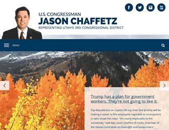 Main page screenshot of chaffetz.house.gov