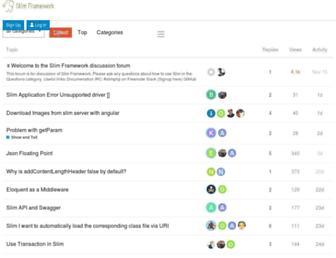 discourse.slimframework.com screenshot