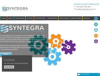 Main page screenshot of syntegra-epc.co.uk
