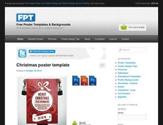 freepostertemplates.co.uk screenshot